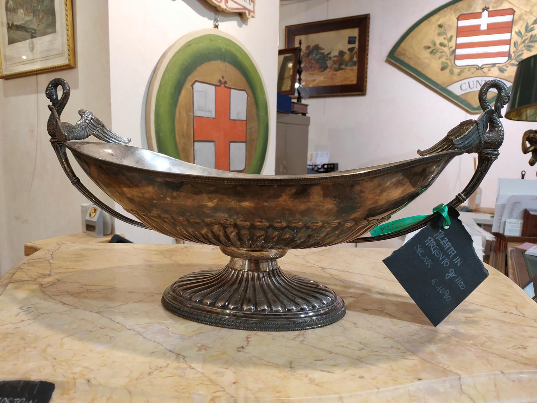 Alzata cigno in argento 1090€