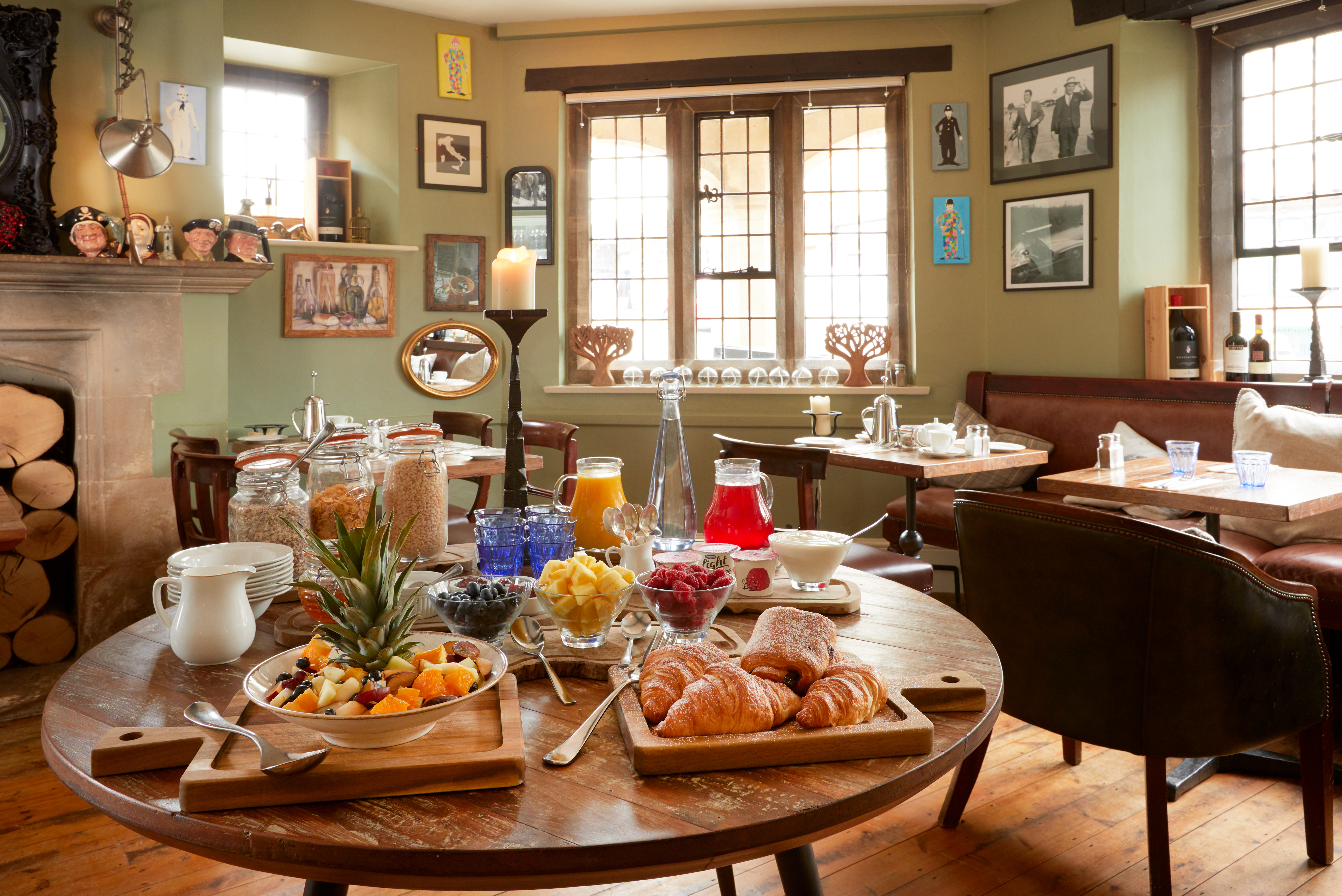 Breakfast buffet in the dining room