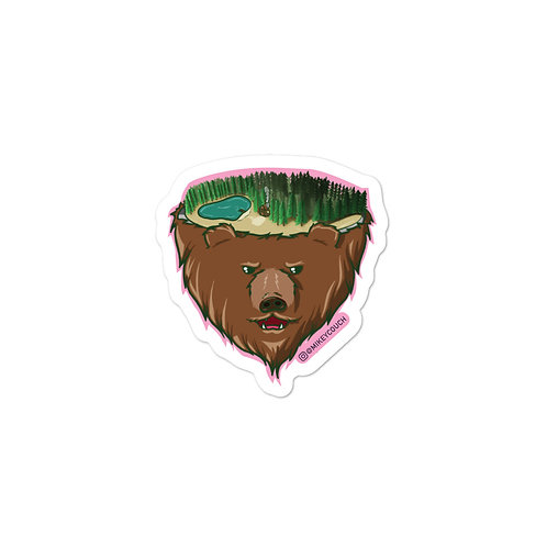 Bear Face Sticker