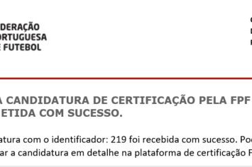 Certificação de Entidade Formadora - FPF