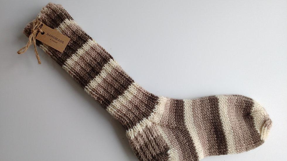 Socks -Brown-Grey-Birch  (Medium Only )