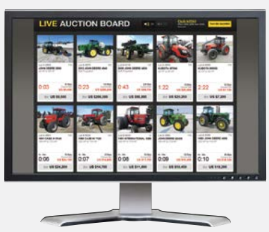 auction time live board