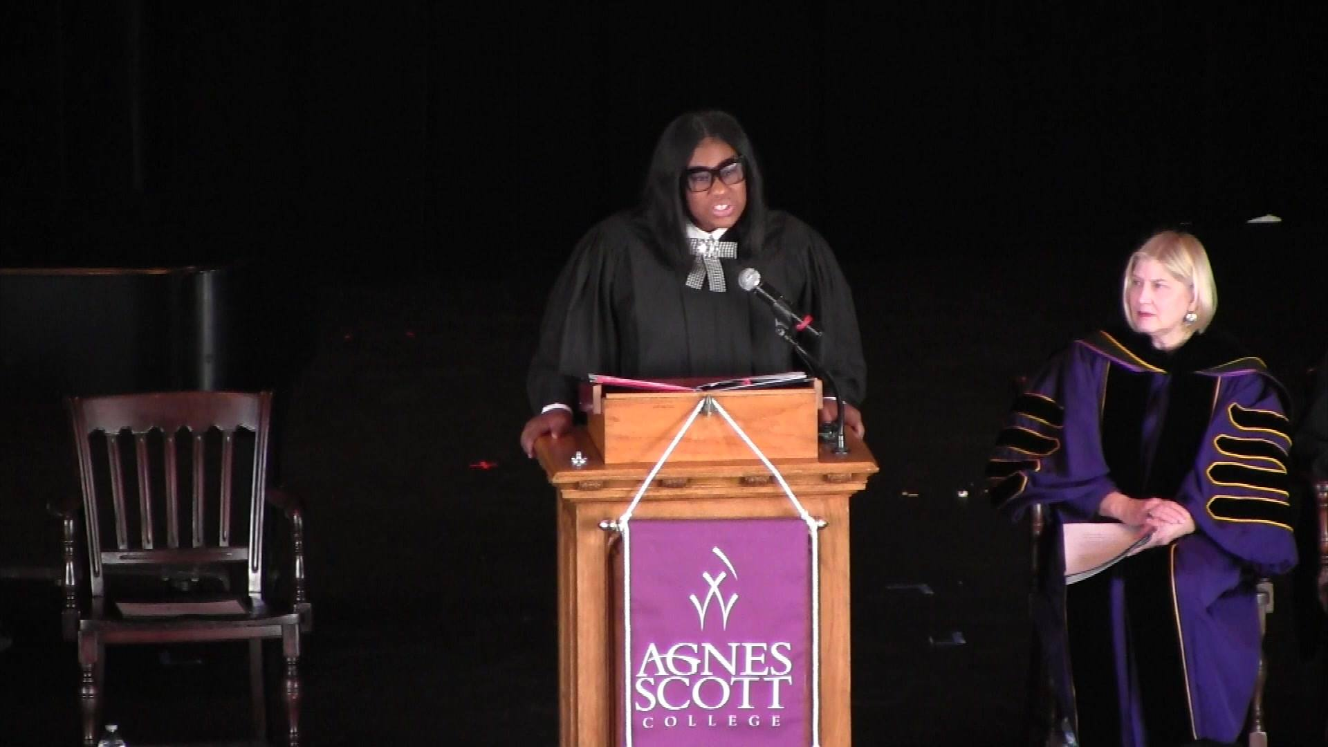 """When issues seem impossible to solve, we have to stop using words like impossible and replace them with words like obtainable, achievable and possible."" - Mary-Pat Hector  Watch the powerful Dr. Martin Luther King Convocation keynote address ""Bastio"