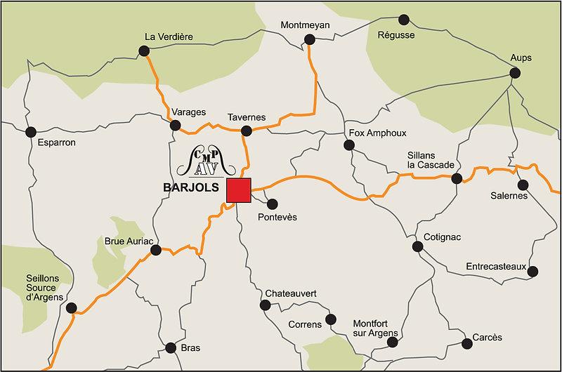 localisation du centre médical de Barjols - cmpav