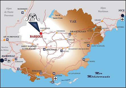 Localisation du cetre médical de Barjols - cmpav