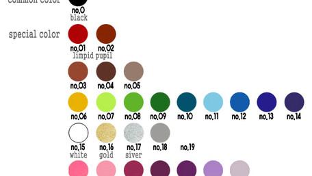 동공 컬러차트 (sample color chart of the Pupil)