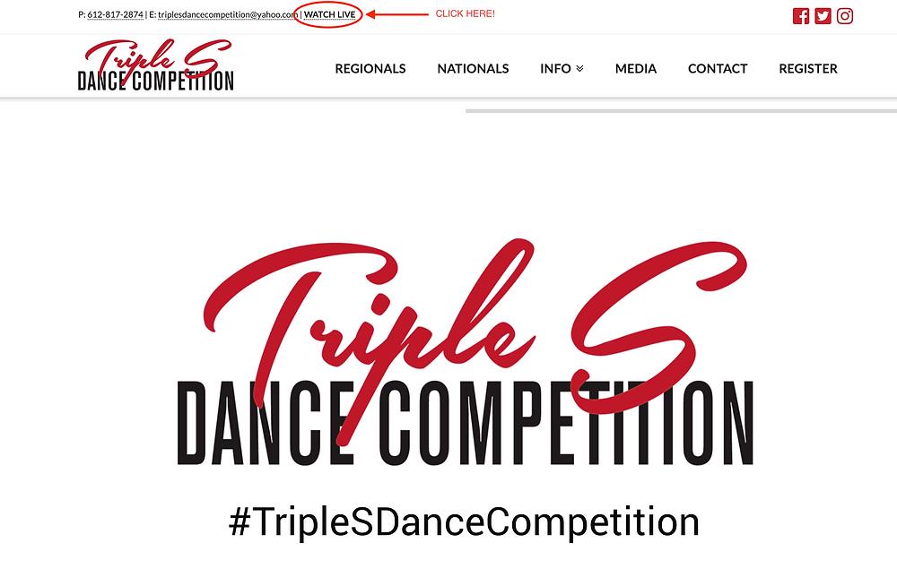 Triple S Website Screen shot