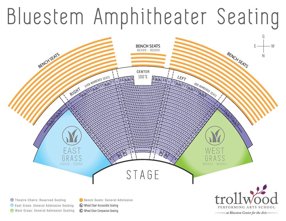 Gasper's Bluestem Seating Chart
