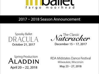 2017 - 2018 Season Announcement: Productions