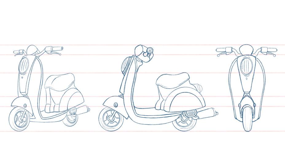 Design test scooter turn around