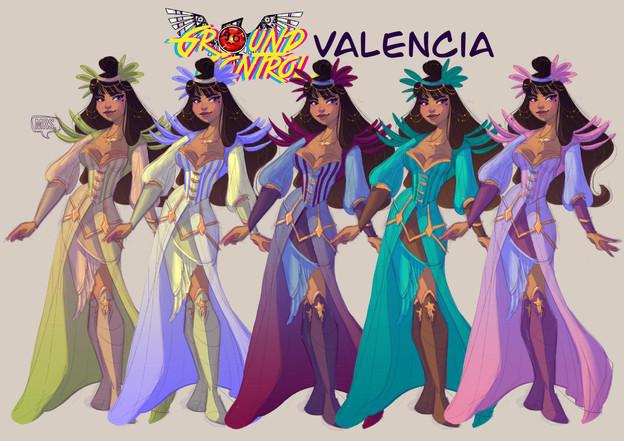 Valencia color line up