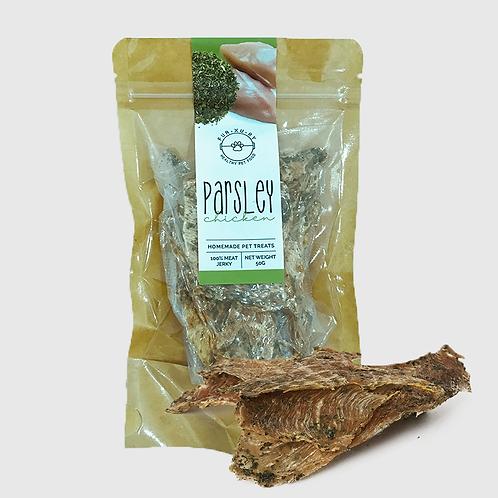 Parsley Chicken Jerky | Pet Treats