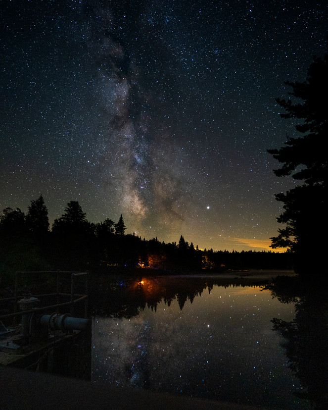 Milky Way Forked Lake