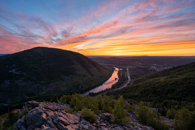 Sunset at Lehigh Gorge
