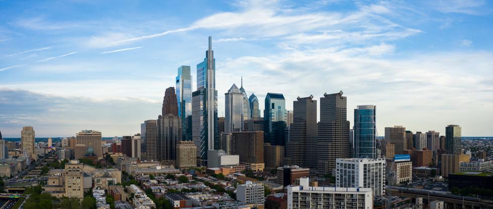 Philadelphia Skyline in Summer