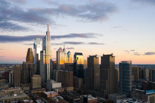 Philly Skyline Sunset