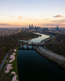 Sunset on the Schuylkill River