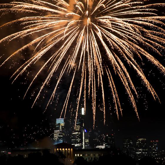 Philadelphia Skyline Fireworks