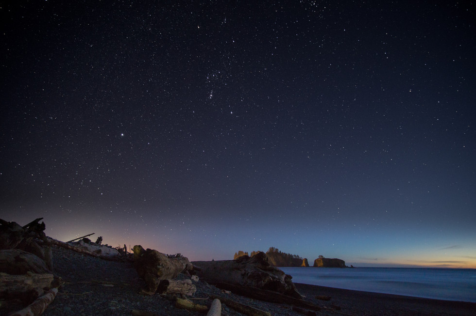 Stars at Rialto Beach
