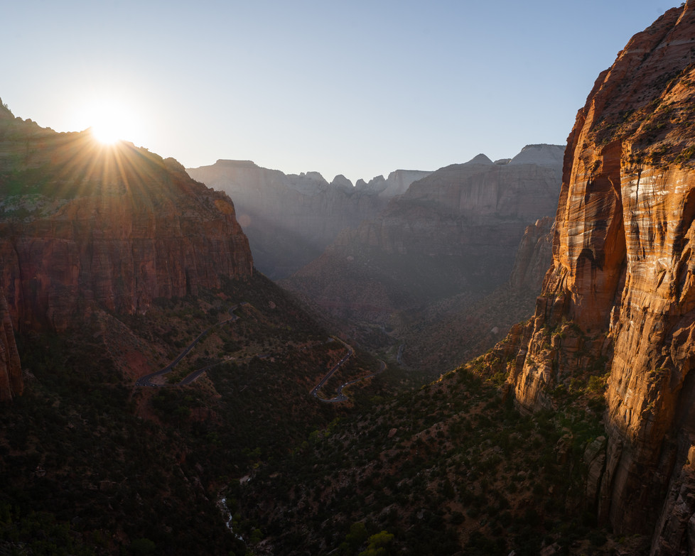 Zion National Park Canyon Overlook Sunset