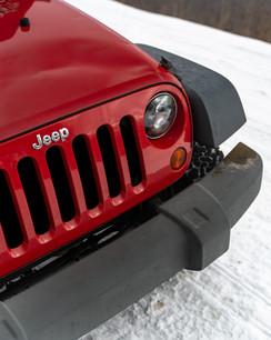 Winter Jeep Grill