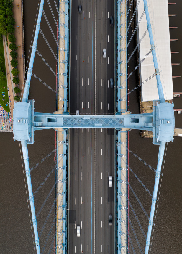 Ben Franklin Bridge Overhead