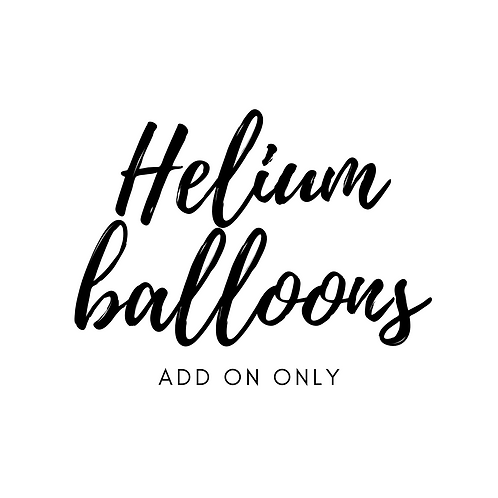 Helium balloon bunch
