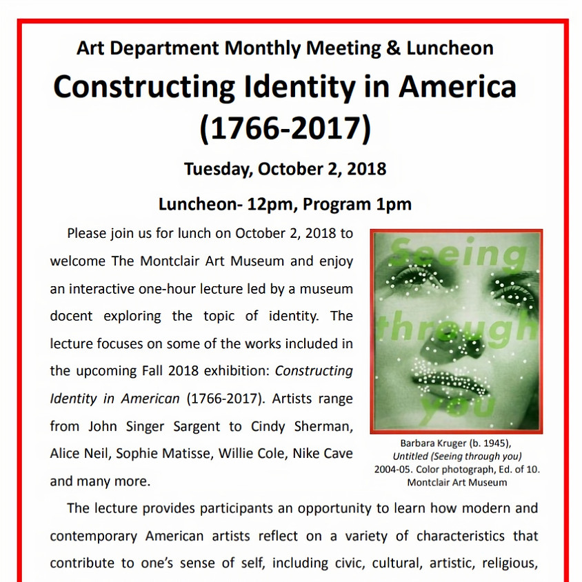 Art Luncheon - Constructing Identity in America