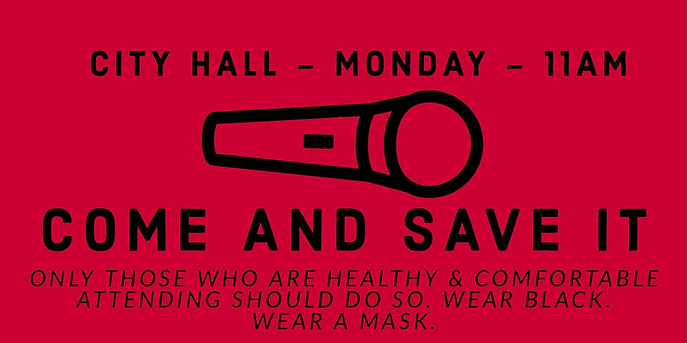 Come And Save It! Rally at City Hall