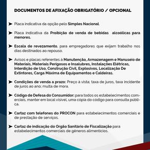 Documentos de Afixação Obrigatório / Opcional