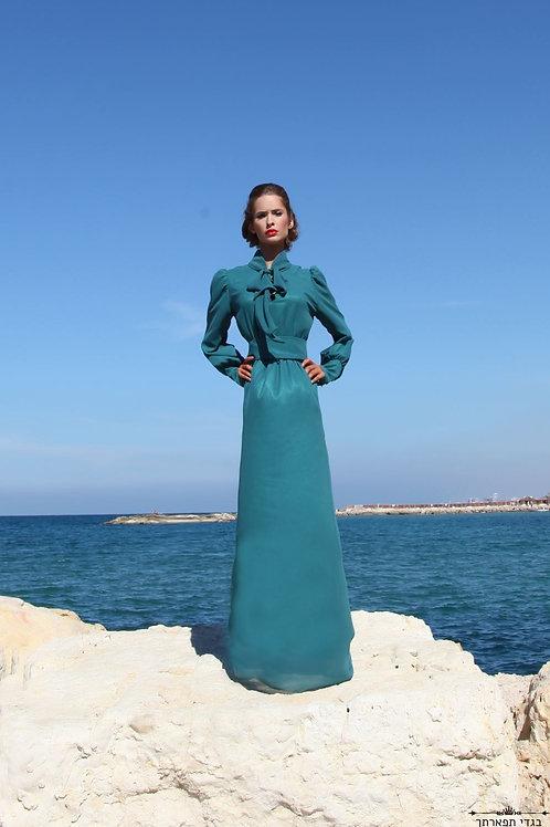 שמלת קשירה נפוליאון ירוק בקבוק