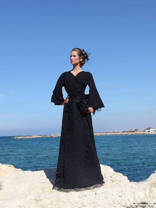 שמלת קימונו שחורה פאיטים