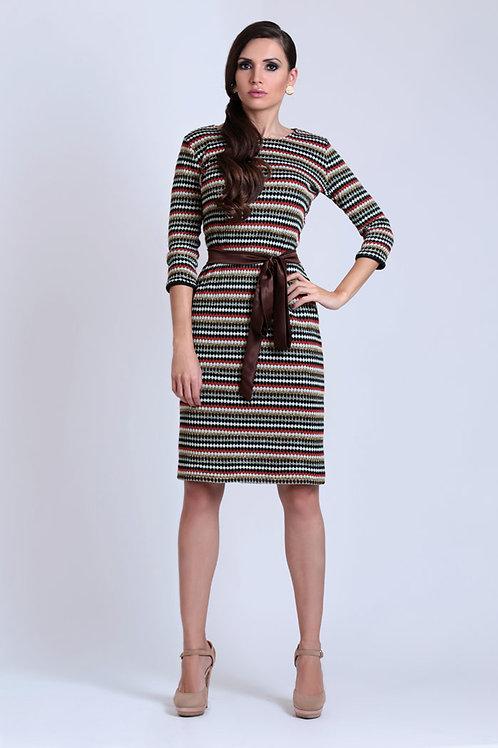 שמלת מיסוני חומה קצרה