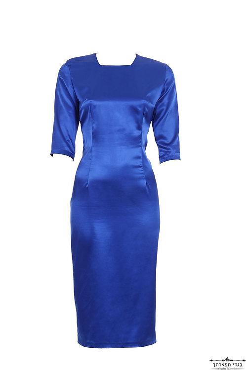 שמלת סאטן כחולה