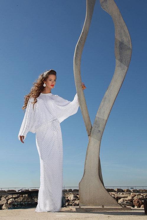 שמלת מיסוני לבנה ארוכה