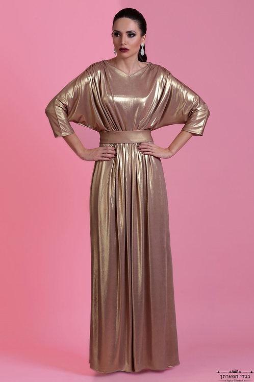 שמלת זהב ביז'ו ארוכה