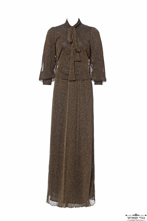 שמלת קשירה נפוליאון נצנץ שחורה
