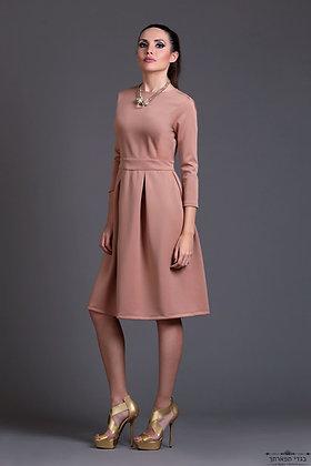 שמלת פודרה קיפלונים