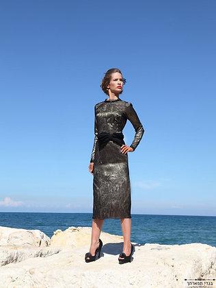 שמלת תחרה ורסצ'ה קצרה