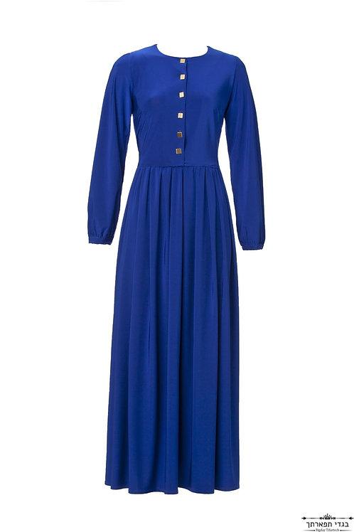שמלת קריסטל לייקרה כחול רויאל