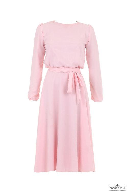 שמלת ורוד עתיק קצרה