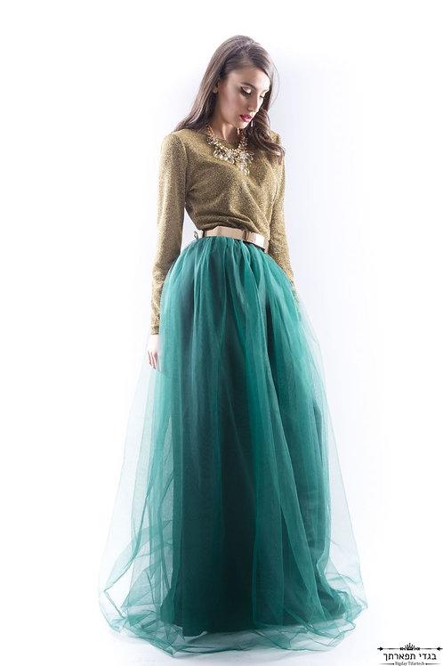 חליפת הזהב+חצאית מירוק בקבוק