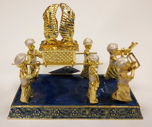 Carriers of The Ark Blue and Gold Enamel Model