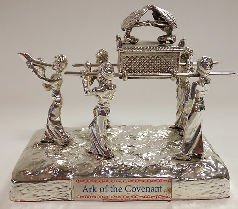 Silver Ark of The Covenant With People Model