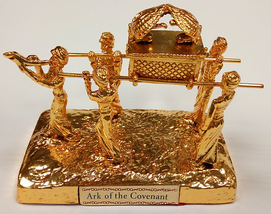 Gold Ark of The Covenant With People Model