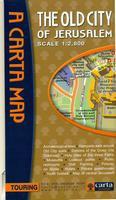 The old city of Jerusalem Carta Map