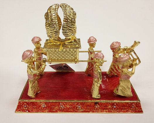 Carriers of The Ark of The Covenant Gold And Red Enamel Model