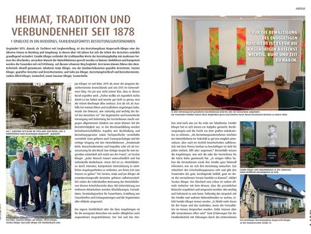 Unser Bestattungshaus in der Zeitschrift Land erleben!