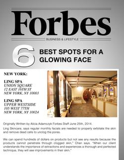 Forbes 6 Best Spots for Glowing Skin