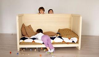 Lettini classici per bambini in legno naturale di Cirmolo o Abete realizzati da | Arg desig | Italia ditta di mobili ecologici